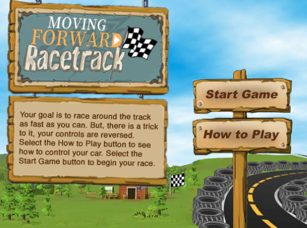 Racetrack game screenshot